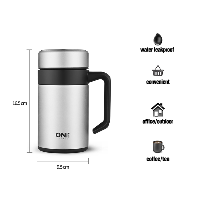 400ml Thermocup Stainless Steel Thermos Mug Office Insulation Cup With Tea Filter Water Bottle Vacuum Flask Tumbler for Men Gift in Vacuum Flasks Thermoses from Home Garden