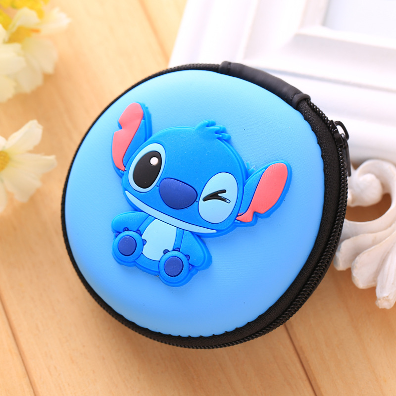 Novelty Cartoon Eva Silicone Coin Purse Earphones Storage Package Square Zipper Bags Creative Gift Kids Anime Coin Key Purse Coin Purses Luggage & Bags