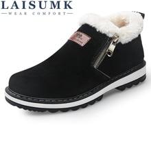 Fashion Black Mens Boots Designer Winter Shoes Men Warm Short Plush Casual Fur 2019 New Keep Male