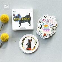 45 pçs/lote Anlice & Animais mini decoração adesivo DIY álbum diário scrapbooking etiqueta de papel adesivo artigos de papelaria kawaii