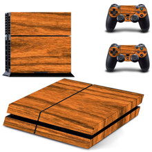 Wood Design Vinly Skin Sticker for Sony PS4 PlayStation 4 and 2 controller skins