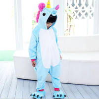2017 New Children Girl Pajamas Unisex Cosplay Animal Costume Onesie Nightwear Unicorn Pijama Stitch For Kid