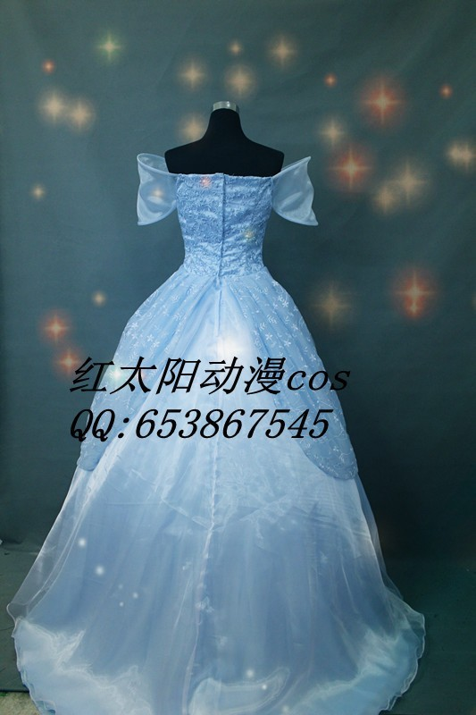 Free shipping Cinderella Costume Ella Enchanted dress Custom For ...