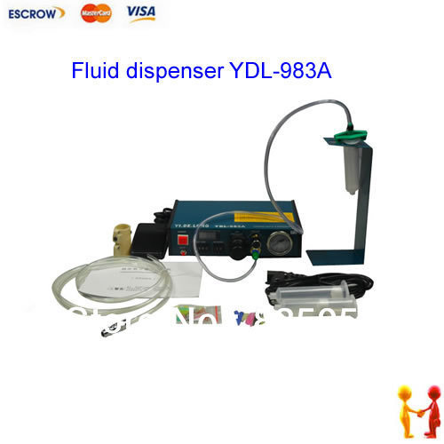 220V Auto Glue Dispenser Solder Paste Liquid Controller Dropper Fluid dispenser YDL-983A klt 982a solder paste glue dropper liquid auto dispenser controller black