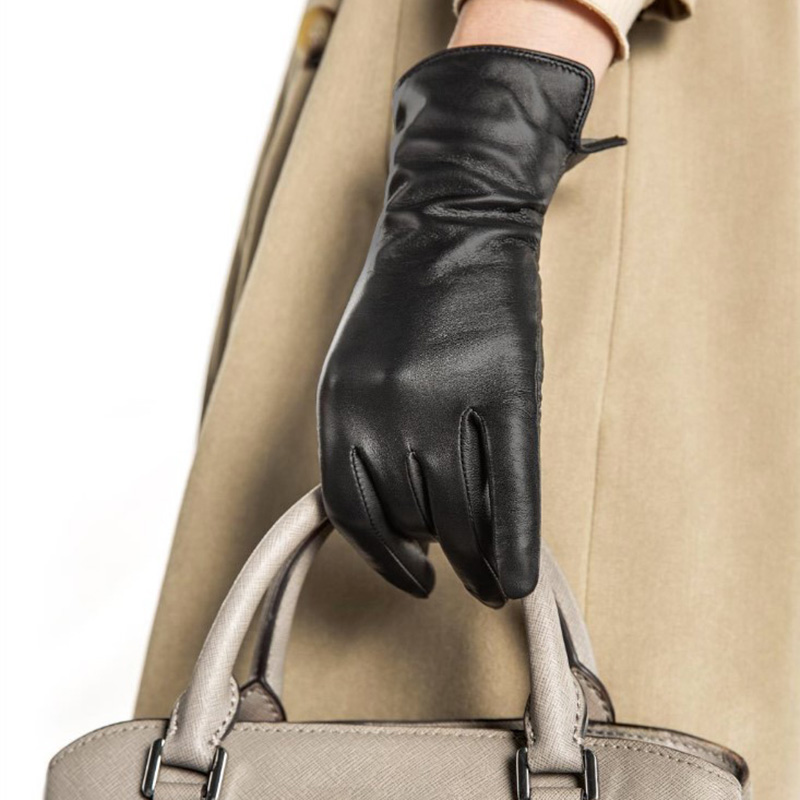 Image 4 - New Xiaomi Mijia Qimian Lambskin Touch Screen Finger Gloves Waterproof Spanish Raw Soft Leather Warm Winter For Women Man Drive-in Smart Remote Control from Consumer Electronics