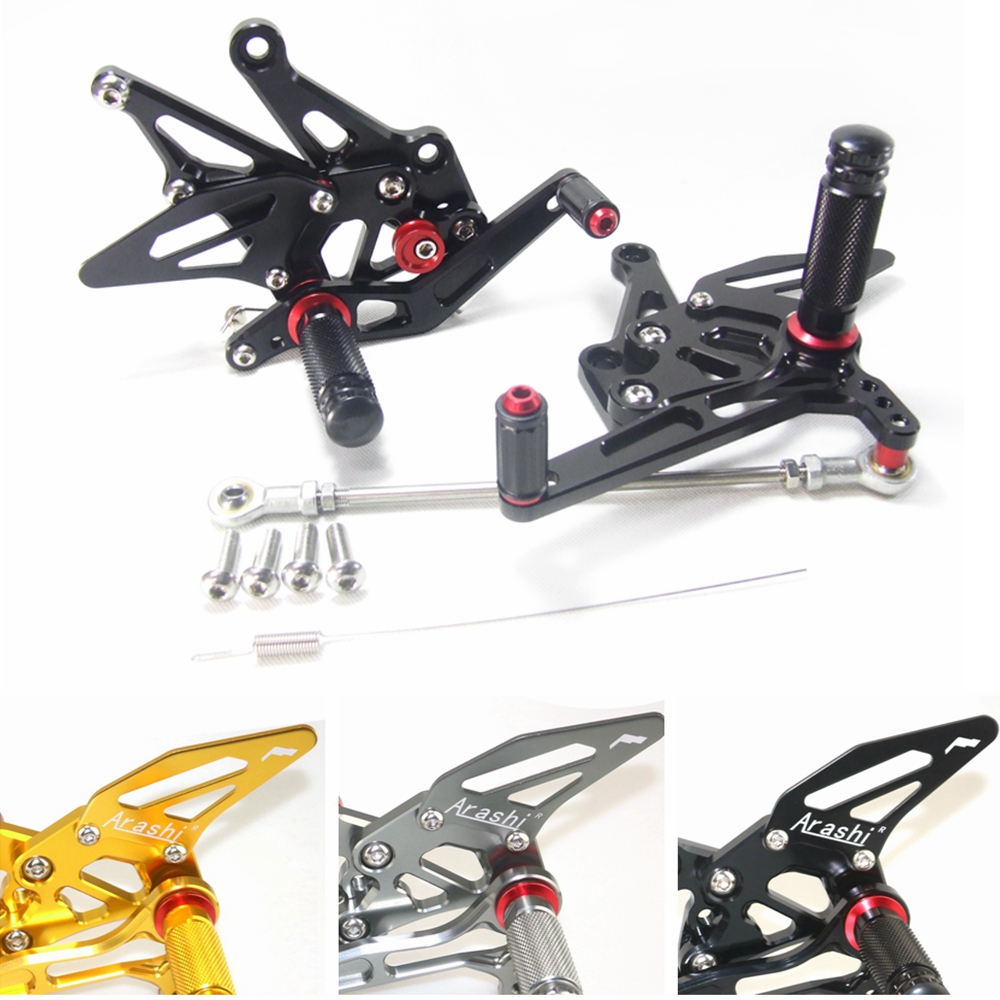 CNC Adjustable Rear Set Rearsets For KAWASAKI Z1000 2014 2015 2016 Foot Rest