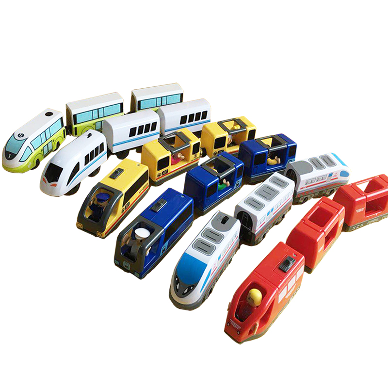 Magnetic RRC EMU Train Toy Wooden Track Brio Track Combination Electric RRC Locomotive Compatible Magnetic Train