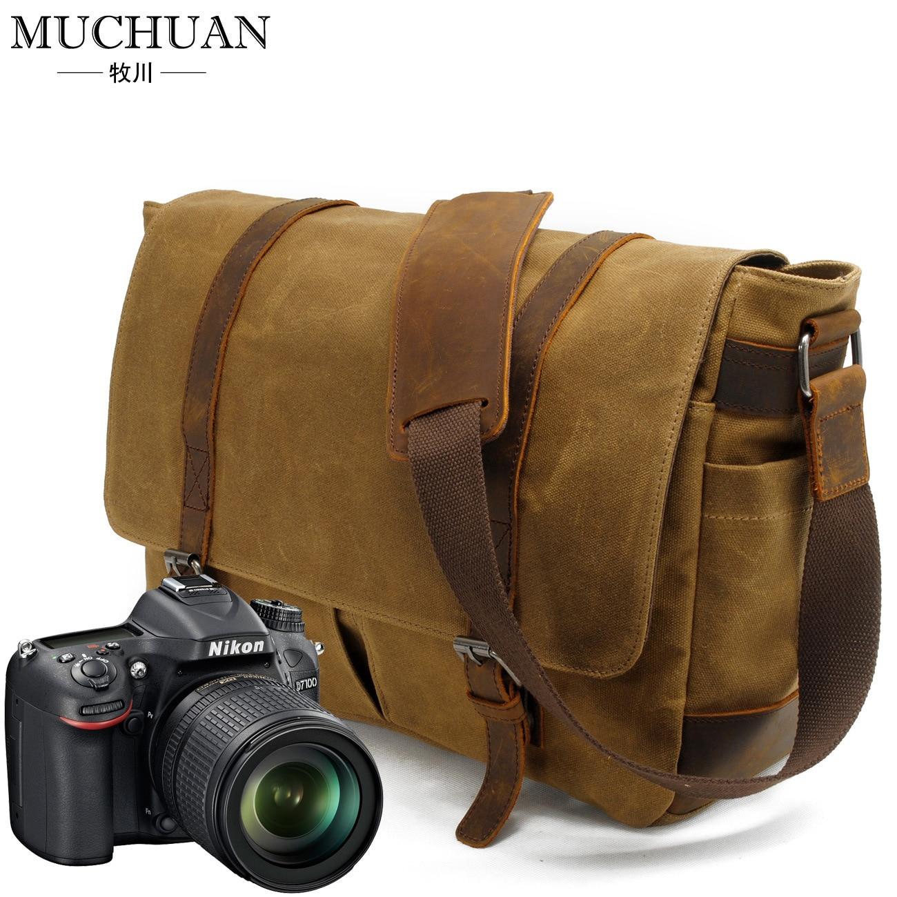 The camera bag leisure batik canvas with crazy horse leather SLR Camera Bag batik batik зимний комплект маруся 350 200гр сиреневый