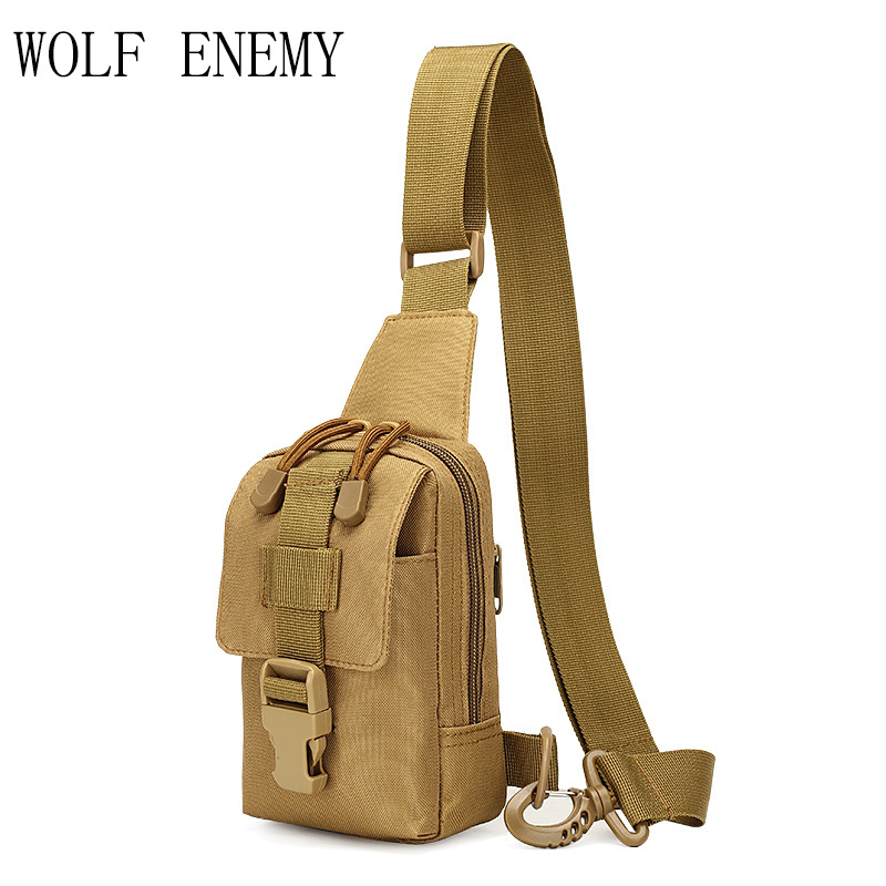 High Quality!Outdoor Tactical Nylon Sport Utility Camouflage Chest Bags Men Riding Climb ...
