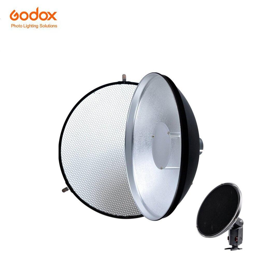 Godox AD-S3 Beauty Dish Reflector with Honeycomb Cover for Godox Witstro AD200 Pocket Flash Godox AD180 AD360 AD360II Speedlite