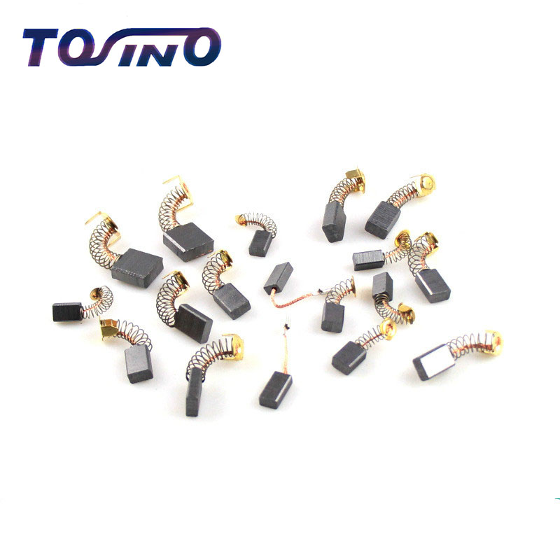 20 Pcs 0.51 x 0.35 x 0.23 Electric Motor Repair Part Carbon Brush Replacement Tool Components Power Tools Parts For Bosch