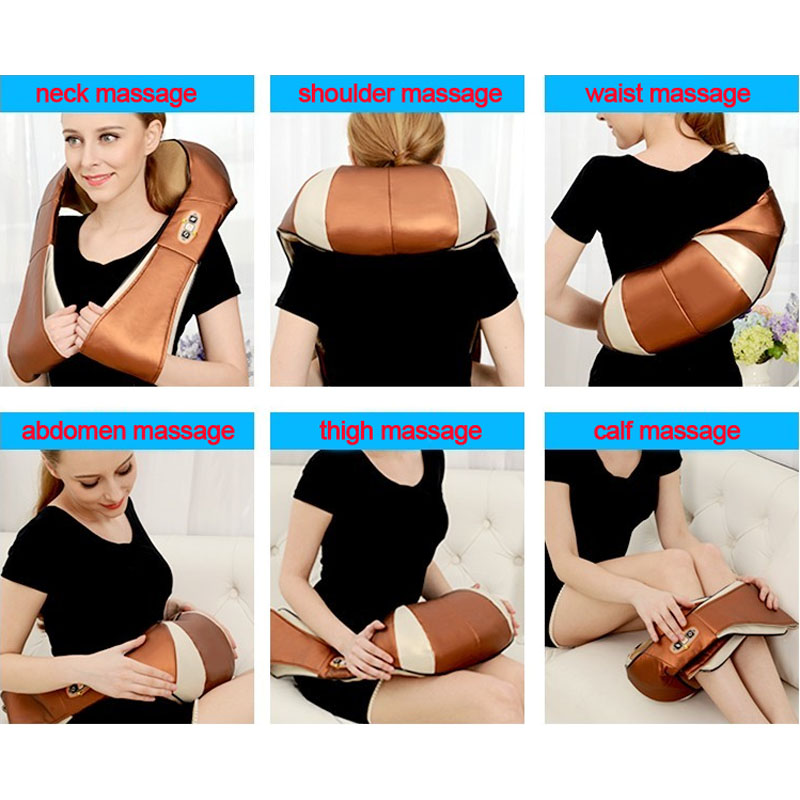 HOT! Multifunction Infrared Body Health Care Equipment Car Home Acupuncture Kneading Neck Shoulder Cellulite Massager 18