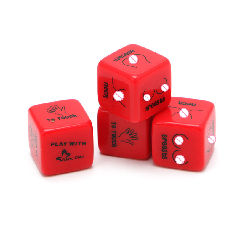 Funny <font><b>12</b></font> Side Sex Position Dice Bachelor Party Adult Couple Lover Novelty Gift image