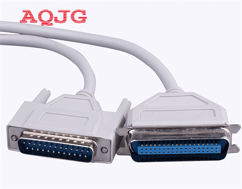 1.5m DB25 To CN36 Parallel Printer Dot Matrix Data Cable 25 Pin To 36 Pin Parallel Printing Line AQJG 3m 5m 10m