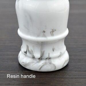 Image 5 - Sintético Suave suave Brocha de afeitar 26mm buena esmoquin nudo y mango de resina para hombre afeitado húmedo