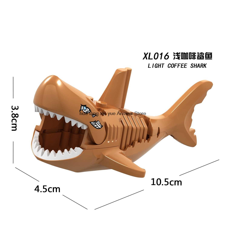 Legoing serie di Animali jungleing mobilitazione Lion Cougar elefante cammello squalo tigre pantera Foresta Animale Blocchi di Legoingly Giocattoli