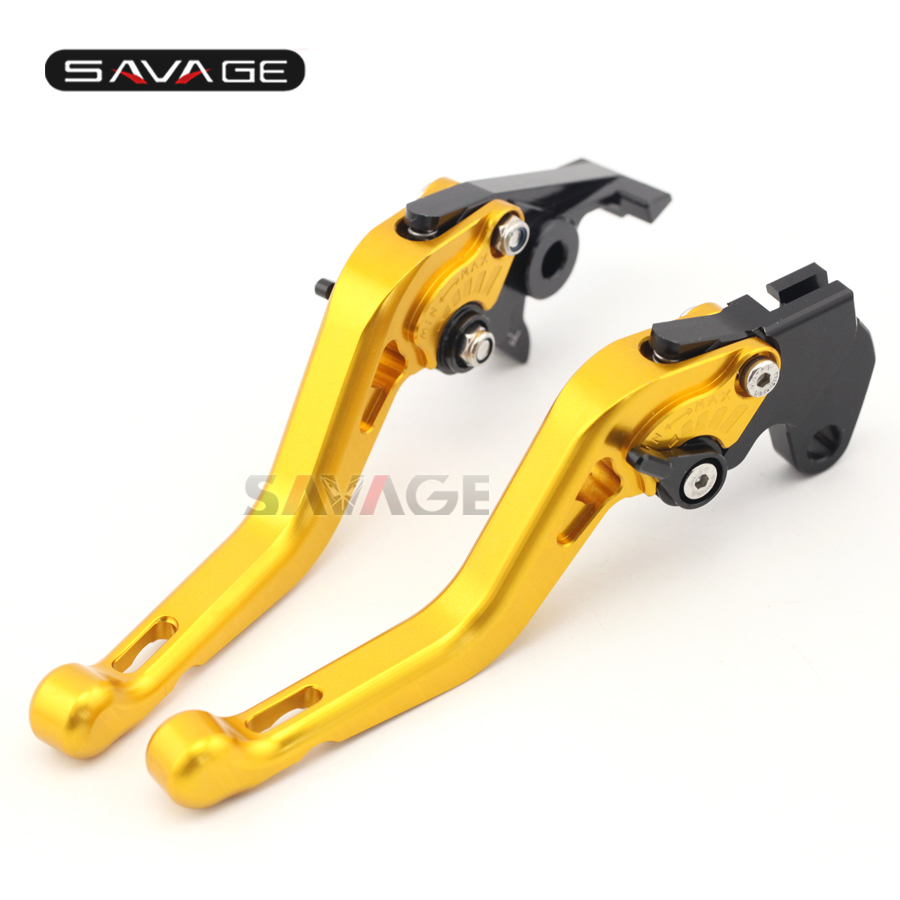 For YAMAHA TDM 900 TDM900 2002-2003 Motorcycle Accessories CNC Aluminum Adjustable Short Brake Clutch Levers Gold