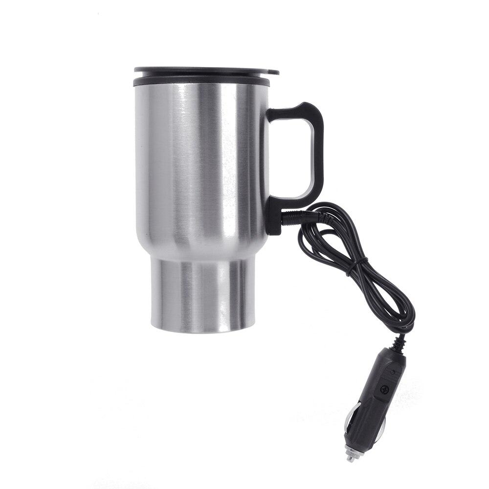 Sekinew stainless steel 12v car auto adapter heated travel - Travel mug stainless steel interior ...