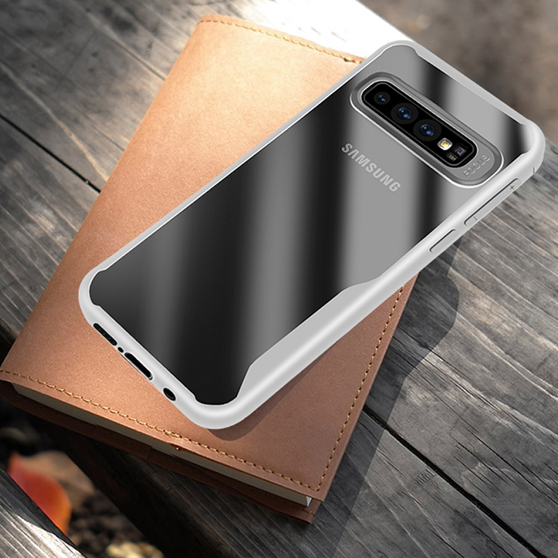 Luxury Shockproof Armor Transparent Soft Silicone Case For Samsung Galaxy S10 S9 S8 Plus S10E S7 Edge Note 9 8 Back Cover Cases in Fitted Cases from Cellphones Telecommunications