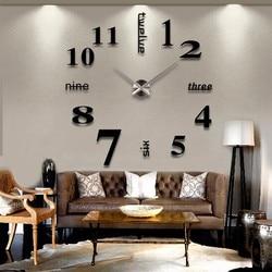 Mini DIY Large Silent Quartz Wall Clock Movement Hands Mechanism Repair Tool Replacement Parts Kit DIY Gold Silver Black