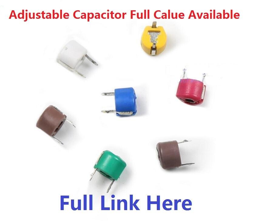 Регулируемый емкостный триммер, 5P, 10P, 20P, 30P, 40P, 50P, 60P, 70P, 120P, переменный конденсатор, пластик, 6 мм, JML06-1-120P, 5/10/20/30/40PF