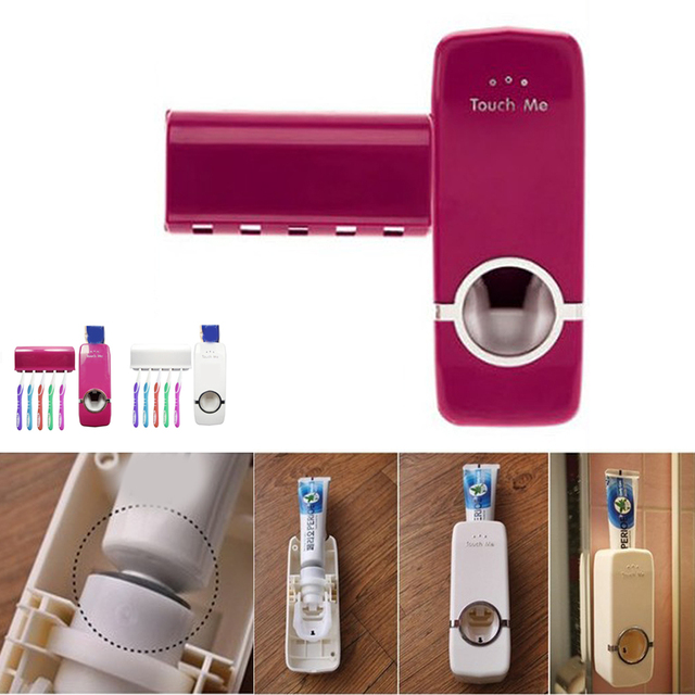 High Quality Bathroom Sets New Automatic Toothpaste Dispenser Toothbrush Holder Set