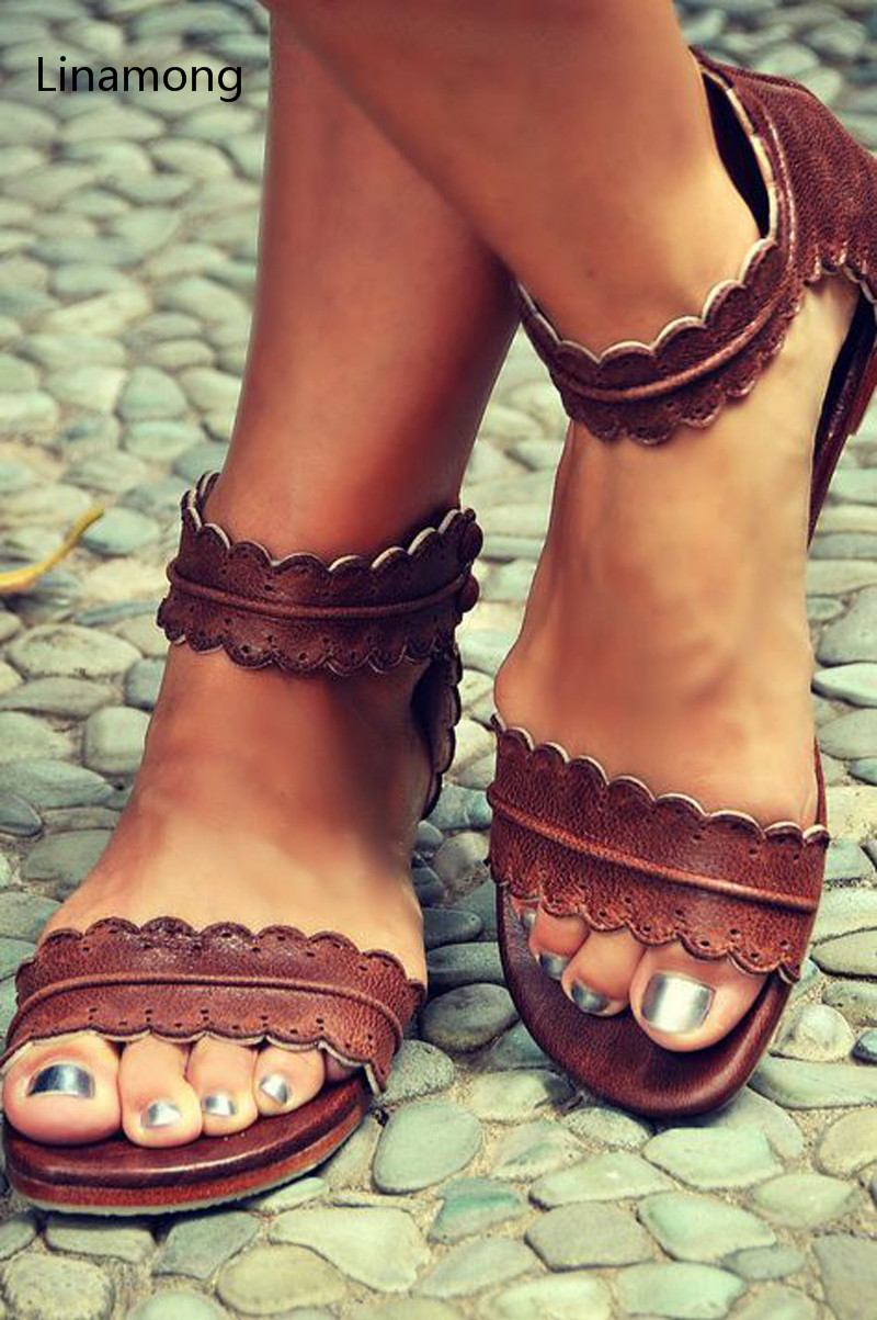 All-match Leisure Women Flat Sandals Open Toe Frework Gladiator Sandals Fashion Summer Shoes Women Flats Heel Sandals Shoes mvvjke summer women shoes woman genuine leather flat sandals casual open toe sandals women sandals