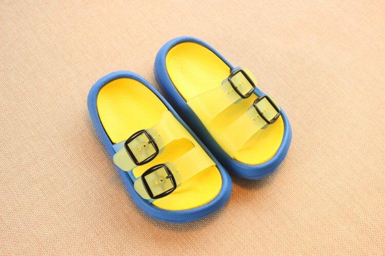 Slippers Kids for Girls Beach Sandals Summer Baby Slippers Boys Flat House Flip Flop Children Non-slip Korea Home Casual Shoes 4