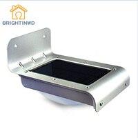 16 Leds Solar Power Lamp Sound/Light sensor LED Lamda Waterproof Ourdoor Garden Stairway Path Solar Wall Light Stair Light Lamp