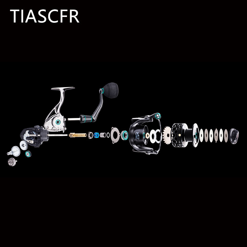 TIASCFR Spinning Fishing Reel Metal 14 1BB XS1000 7000 Series Water Resistance Ultra Light Reel High Gear Ratio Spinning wheel in Fishing Reels from Sports Entertainment