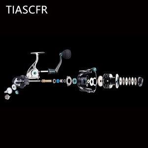 Image 3 - TIASCFR Spinning Fishing Reel Metal 14+1BB XS1000 7000 Series Water Resistance Ultra Light Reel High Gear Ratio Spinning Wheel