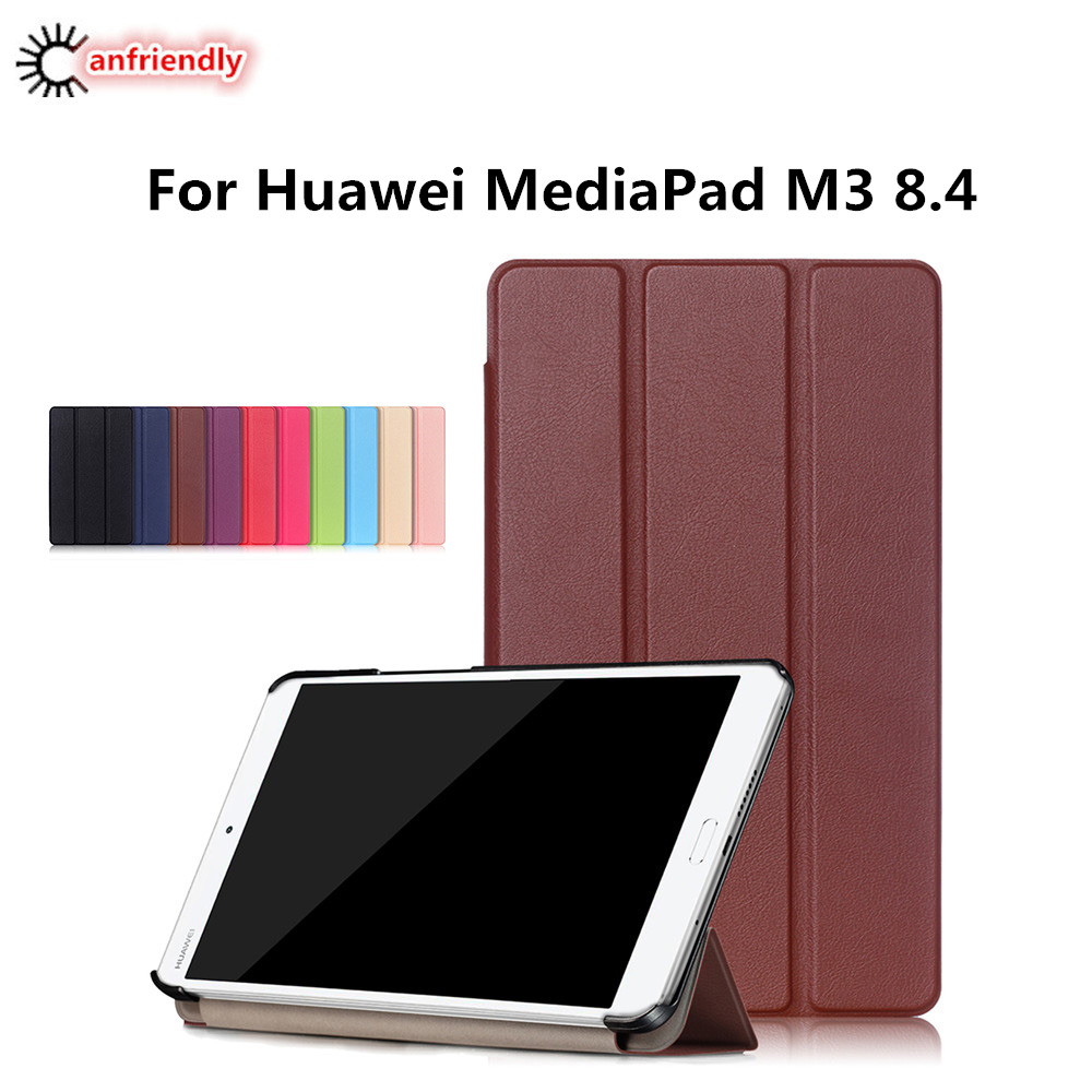 For Coque Huawei m3 pad case Luxury 8.4 inch For Huawei mediapad m3 m 3 case cover pu leather capas media m3 flip tablet case silicone with bracket flat case for huawei mediapad m5 8 4 inch