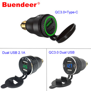 Buendeer Din to USB motorcycle QC3.0 Quick Charge USB Power Socket Adapter DIN Charger for triumph tiger 800 xc BMW R1200RT(China)