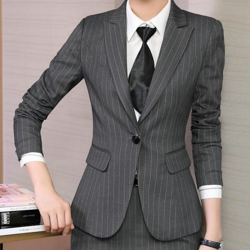 Womens Autumn Winter Long Sleeve Turn Down Collar Notch Pocket Button Wear To Work Office Business Blazer Jacket Formal