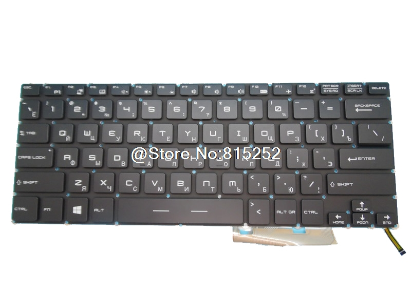 Backlit Keyboard For MSI GS43VR 6RE-007RU 6RE-019RU 6RE-020RU 7RE-089RU 7RE-094RU 7RE-095RU 7RE-201RU 7RE-202XRU Russian RU ru russian for msi ge60 gt60 ge70 gt70 16f4 1757 1762 16gc gx60 gx70 16gc 1757 1763 backlit laptop keyboard