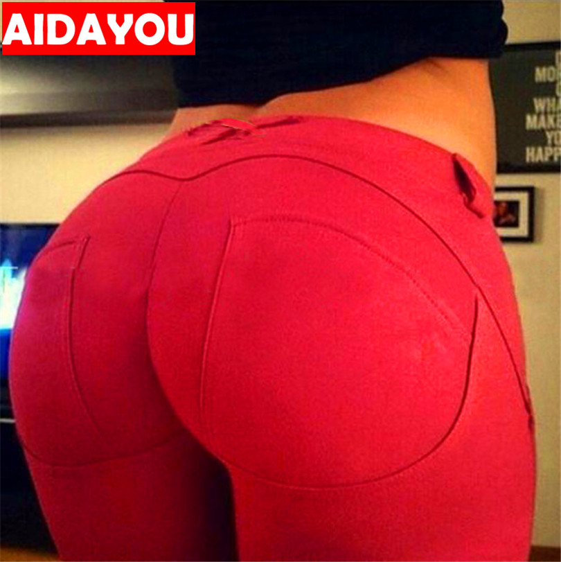 Butt Lifting   Leggings   Push Up Ass Pants Plus Size Hip-up Peach Bottom Good Stretchy High Elastic Pants Sexy ouc359a
