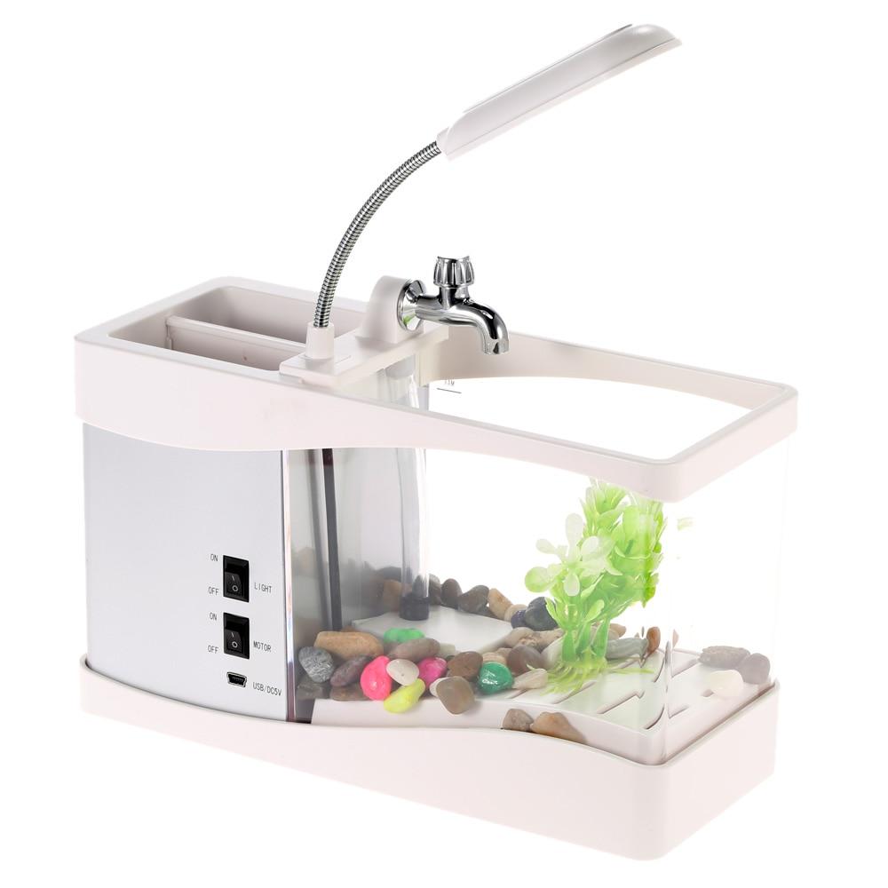 Usb Mini Fish Tank Desktop Electronic Aquarium Mini Fish Tank With