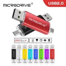 Hermosa usb OTG pen drive 8GB 16GB 32GB 64GB pendrive memoria usb 2,0 disco de U creativo Multicolor micro usb