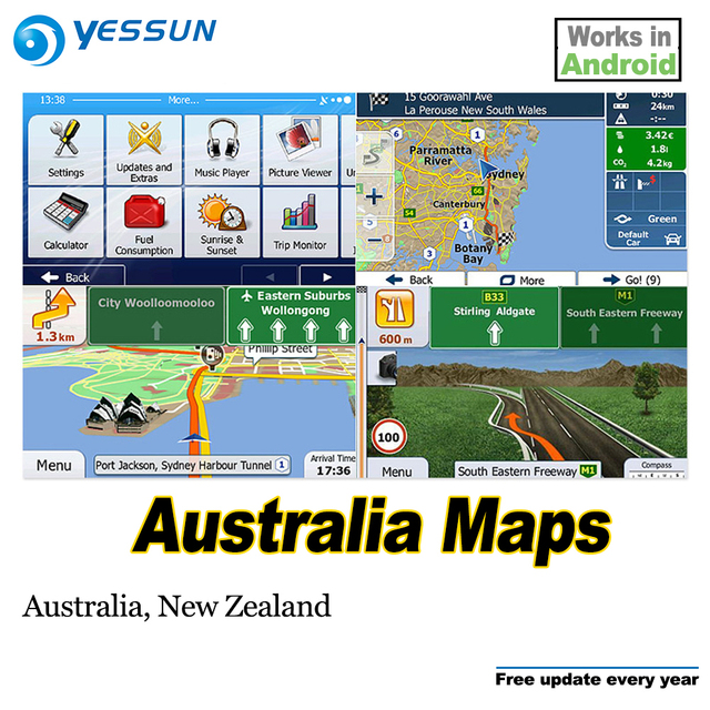 New Zealand Map Australia.Us 16 52 13 Off 8gb Sd Card Car Gps Navigation Maps Card Android For Australia Map Australia New Zealand In Gps Accessories From Automobiles