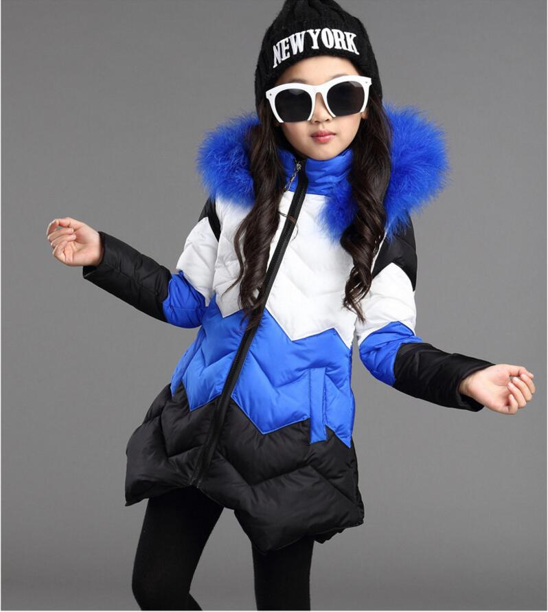Fashion Girl Winter Coat Warm Joining Together  Thick Down Cotton Jacket Coat Children Winter Clothing Freeshipping girl