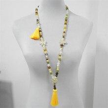 New Design sweater chain Women's Long Bohemian Retro Butterfly Pendant Tassel Be