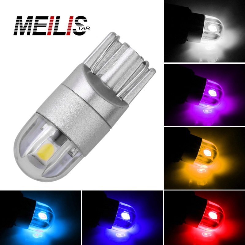 Car Styling W5W LED T10 3030 1SMD Auto Lamps 168 194 Bulb Plate Light Parking Fog Light Auto Univera Cars Light White red blue car led 1pcs t10 194 w5w dc 12v canbus 6smd 5050 silicone shell led lights bulb no error led parking fog light auto car styling