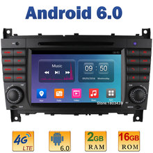 7″ Quad Core 2GB RAM 4G LTE SIM WIFI Android 6 Car DVD Player Radio For Mercedes-Benz W203 W209 CLK200 CLK220 CLK240 CLK63 AMG