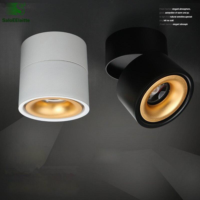 Lámpara de techo Led moderna pintura de aluminio giratoria luz de techo dormitorio Led COB lámpara de techo iluminación interior