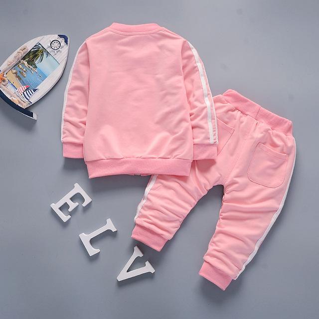 Boys Clothes 2018 Casual Children Clothing Set Spring Autumn Zipper Leisure Sports Suit Jacket + Pants Kids Bebes Jogging Suits