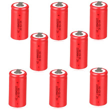 12PCS A LOT RED SC Ni-Cd battery 2200mah rechargeable replacement 1.2v 22420 with tab an Extension Cord Processed