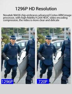Image 4 - BOBLOV cámara de seguridad corporal PD50 HD 1296P IR, cámara de policía de bolsillo con visión nocturna, grabador de vídeo DVR, guardia de seguridad