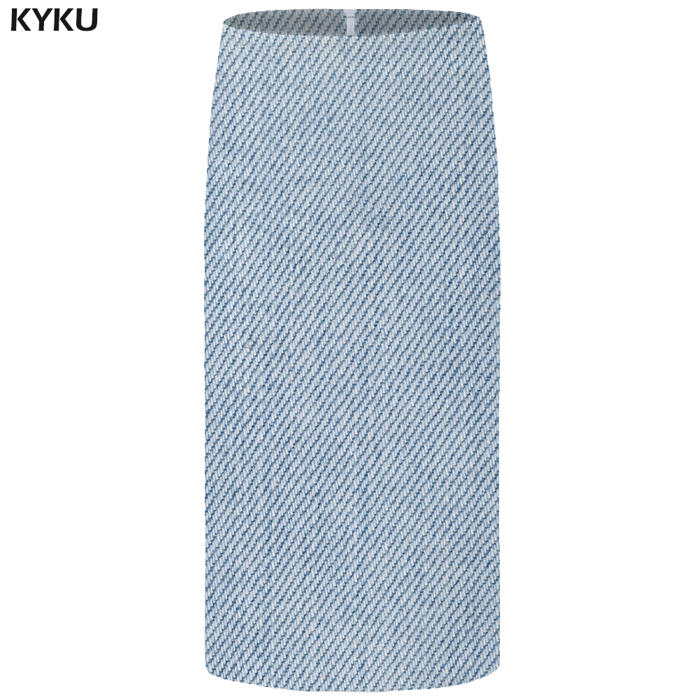 Kyku White Skirts Women Space Casual Retro Pencil Sexy Party Floral Ladies Skirts Womens Office Japanese New Large Size