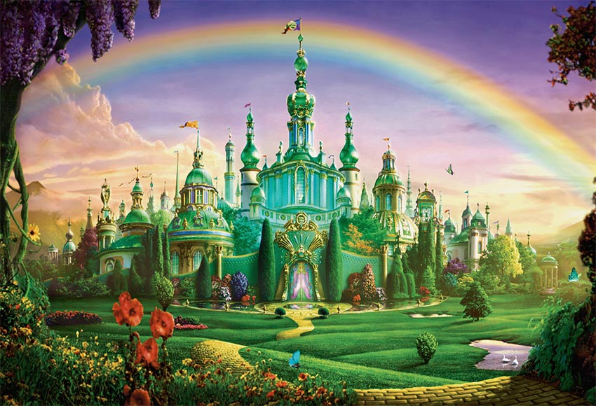 Us 13 39 33 Off Background For Photography Fantasy Castle Beautiful Rainbow Green Screen Backgrounds Children In Background From Consumer