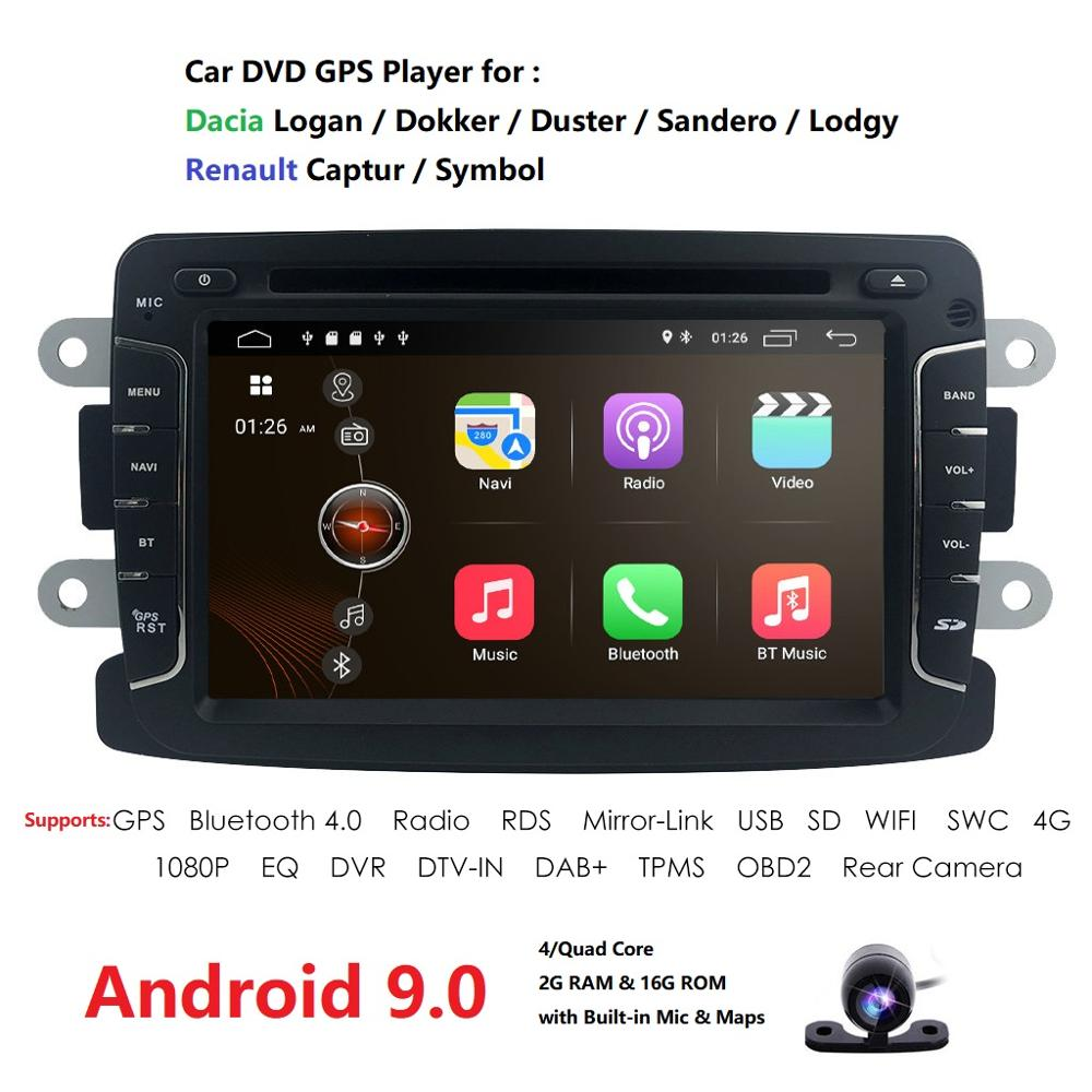 IPS DSP Car Multimedia dvd player Android 9 GPS audio For Duster/Captur/Lada/Xray 2/Logan 2/Dacia/Sandero car radio stereo wifi image